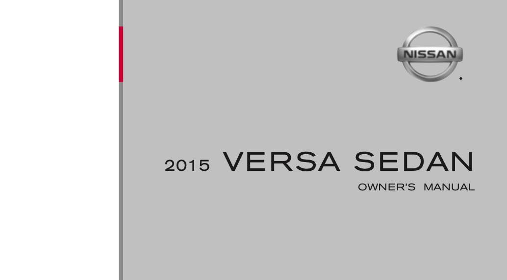 2015 Nissan Versa Owners Manual