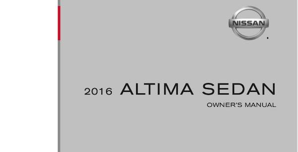2016 Nissan Altima Owners Manual