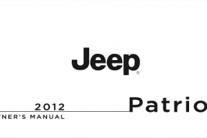 2012 Jeep Patriot Owners Manual