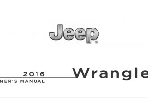 2016 Jeep Wrangler Owners Manual