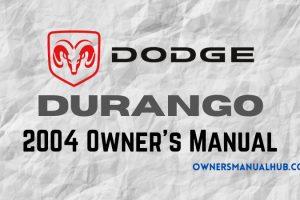 2004 Dodge Durango Owners Manual