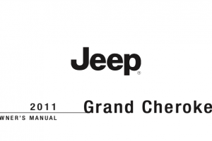 2011 Jeep Grand Cherokee Owners Manual