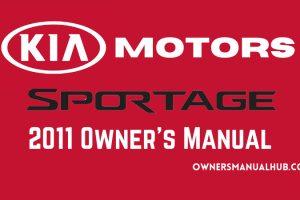 2011 Kia Sportage Owners Manual