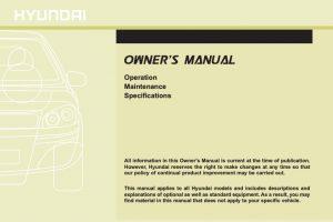 2012 Hyundai Sonata Owners Manual