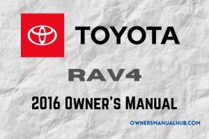 2016 Toyota RAV4 Owners Manual