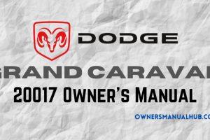 2017 Dodge Grand Caravan Owner's Manual