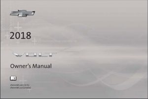 2018 Chevy Volt Owners Manual