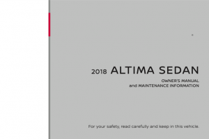 2018 Nissan Altima Owners Manual