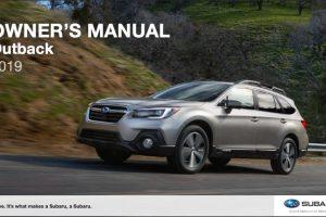 2019 Subaru Outback Owner's Manual