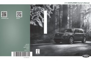 2016 Ford Explorer manual