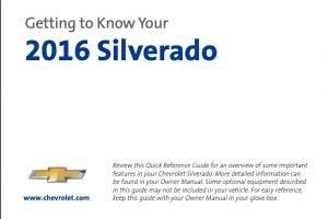 2016 Chevrolet Silverado Owners Manual