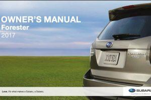 2017 Subaru Forester Owners Manual