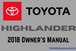 2018 Toyota Highlander Owners Manual