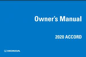 2020 Honda Accord Owners Manual
