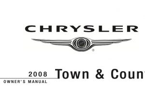 2008 Chrysler Town And Country Owners Manual