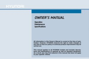 2016 Hyundai Sonata Owners Manual