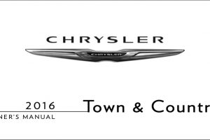 2016 Chrysler Town And Country Owners Manual
