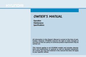 2017 Hyundai Elantra Owners Manual
