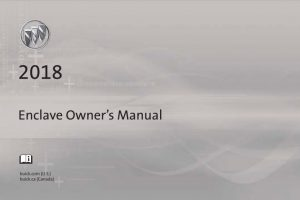 2018 Buick Enclave Owners Manual