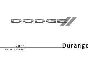 2018 Dodge Durango Owners Manual