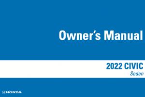 2022 Honda Civic Owners Manual