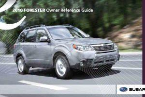 2010 Subaru Forester Owners Manual