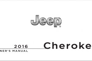 2016 Jeep Cherokee Owners Manual