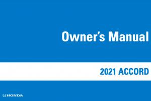 2022 Honda Accord Owners Manual