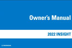 2022 Honda Insight Owners Manual
