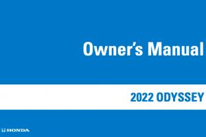 2022 Honda Odyssey Owners Manual