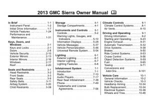 2013 GMC Sierra Owners Manual